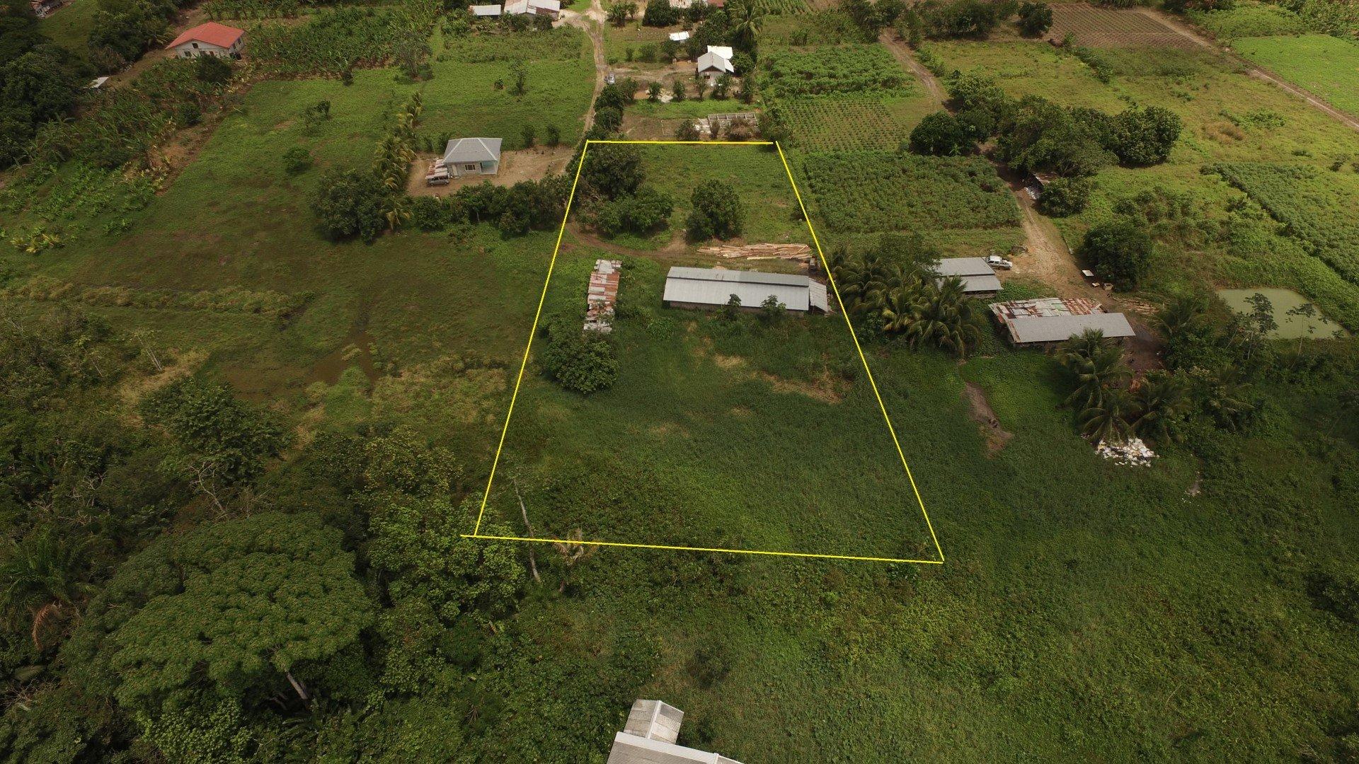 Zwampweg, Djojoastroweg - Hooggelegen terrein langs een klein kanaal. - Surgoed Makelaardij NV - Paramaribo, Suriname
