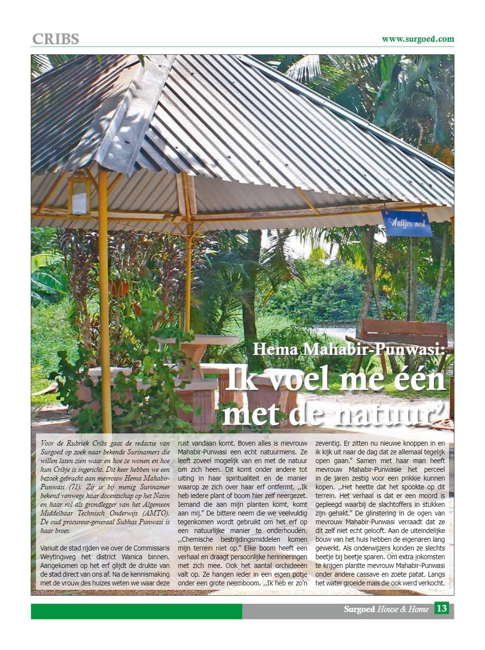 Hema Mahabir-Punwasi - 'Ik voel me één met de natuur'