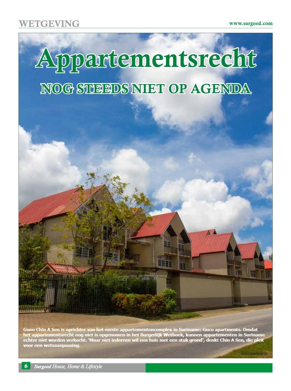 Appartementsrecht nog steeds niet op agenda