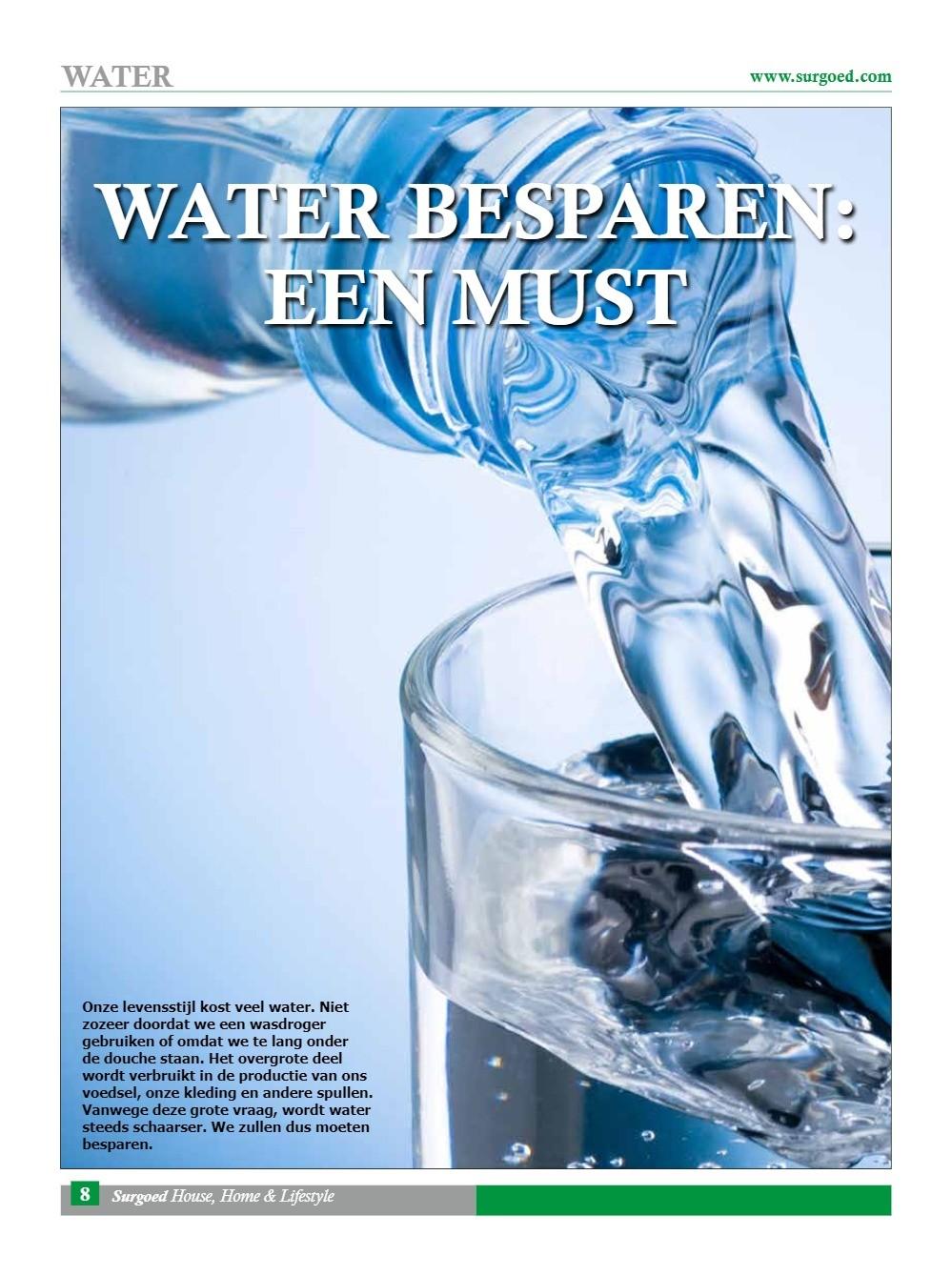 Water besparen: een must