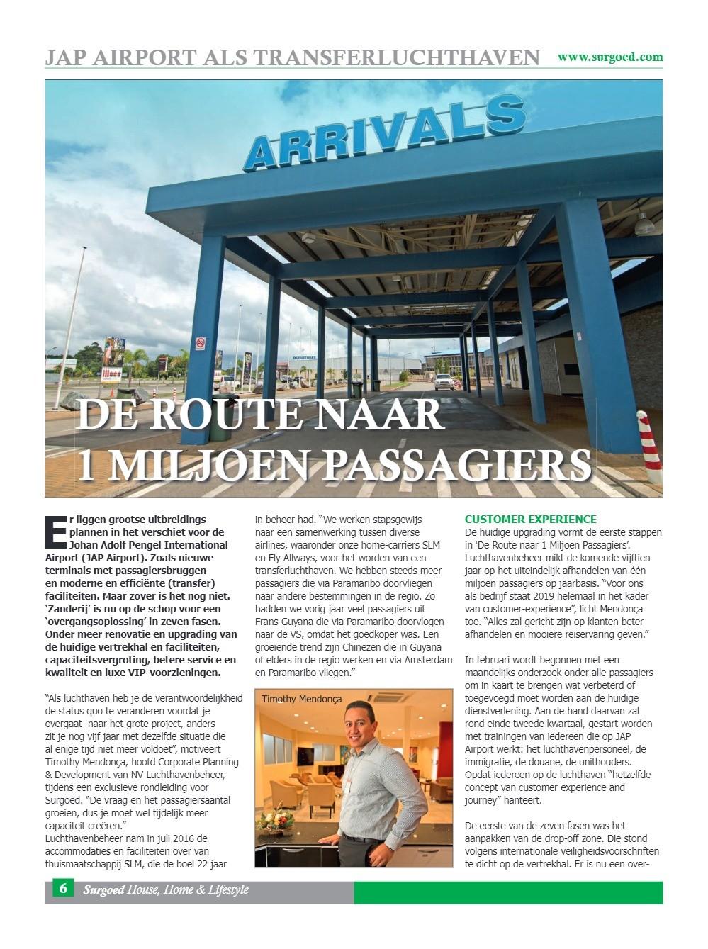 De route naar 1 miljoen passagiers