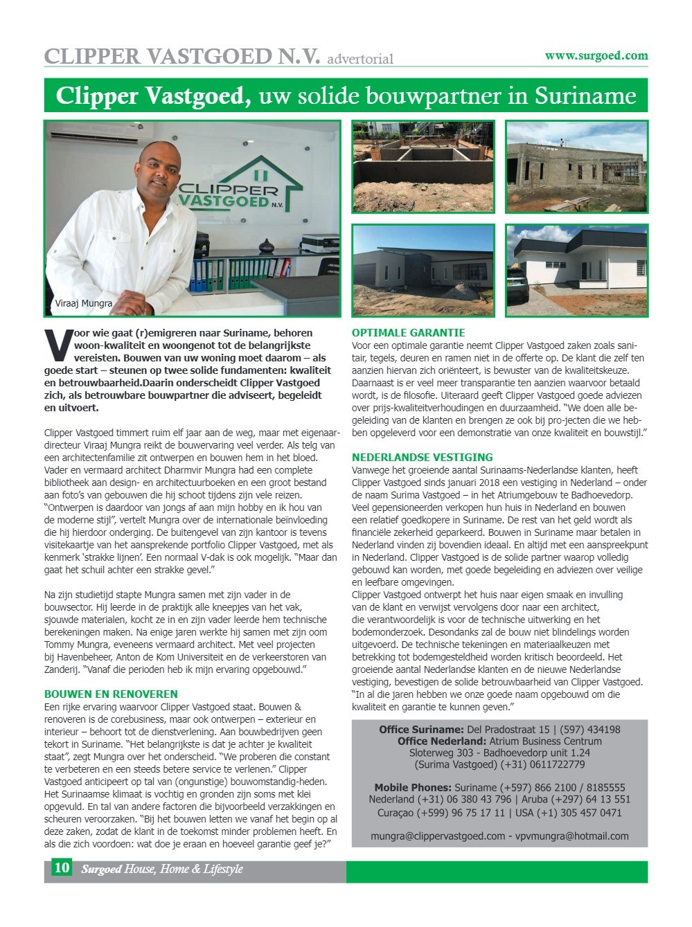 Clipper Vastgoed, uw solide bouwpartner in Suriname