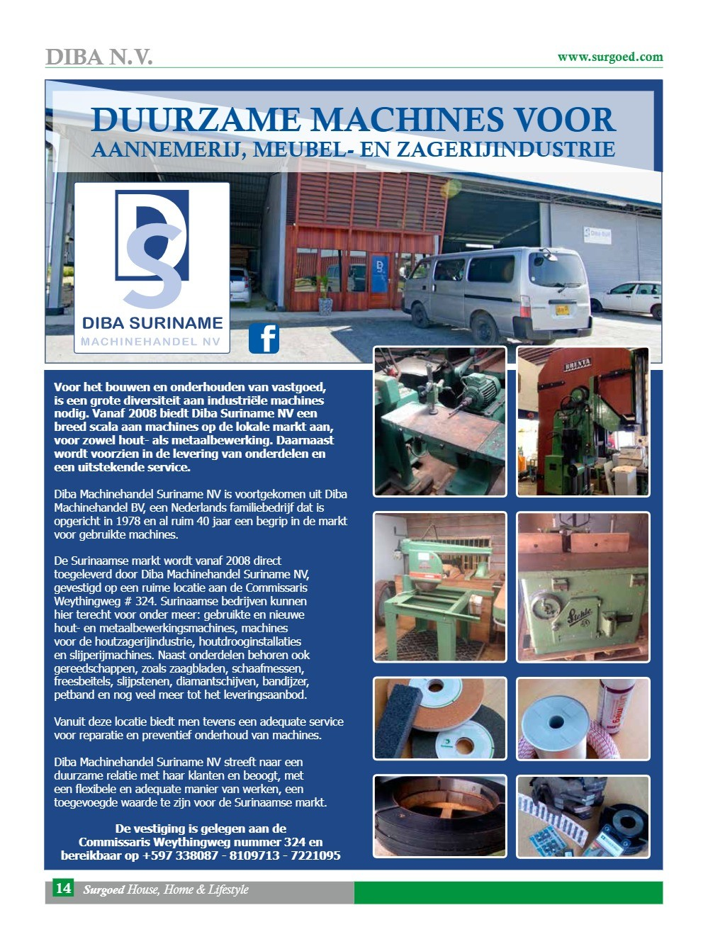 Duurzame machines voor aannemerij, meubel- en zagerij industrie
