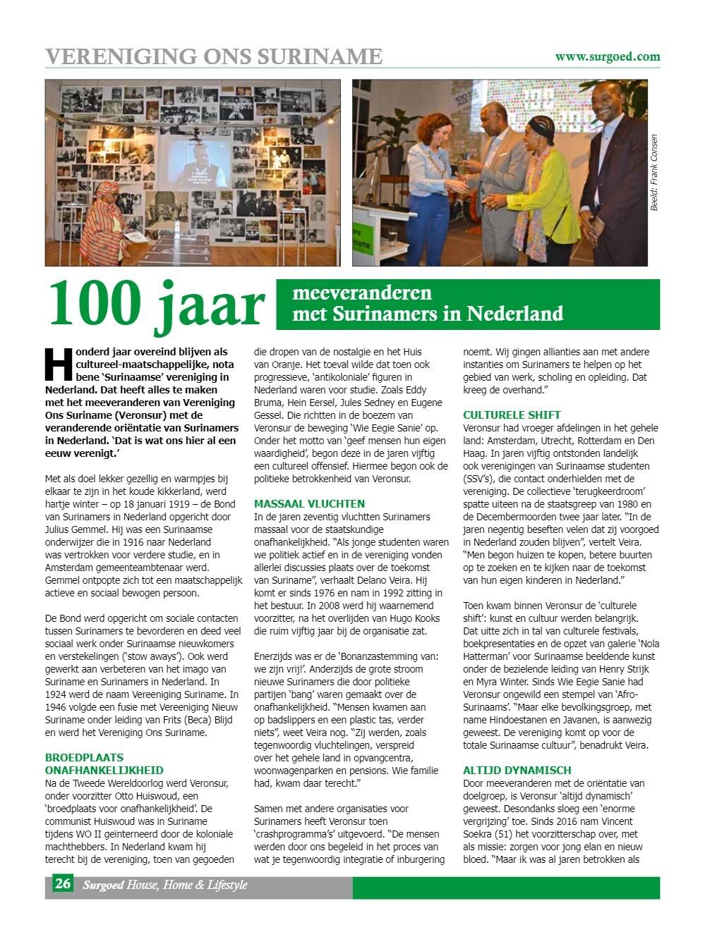 100 jaar meeveranderen met Surinamers in Nederland