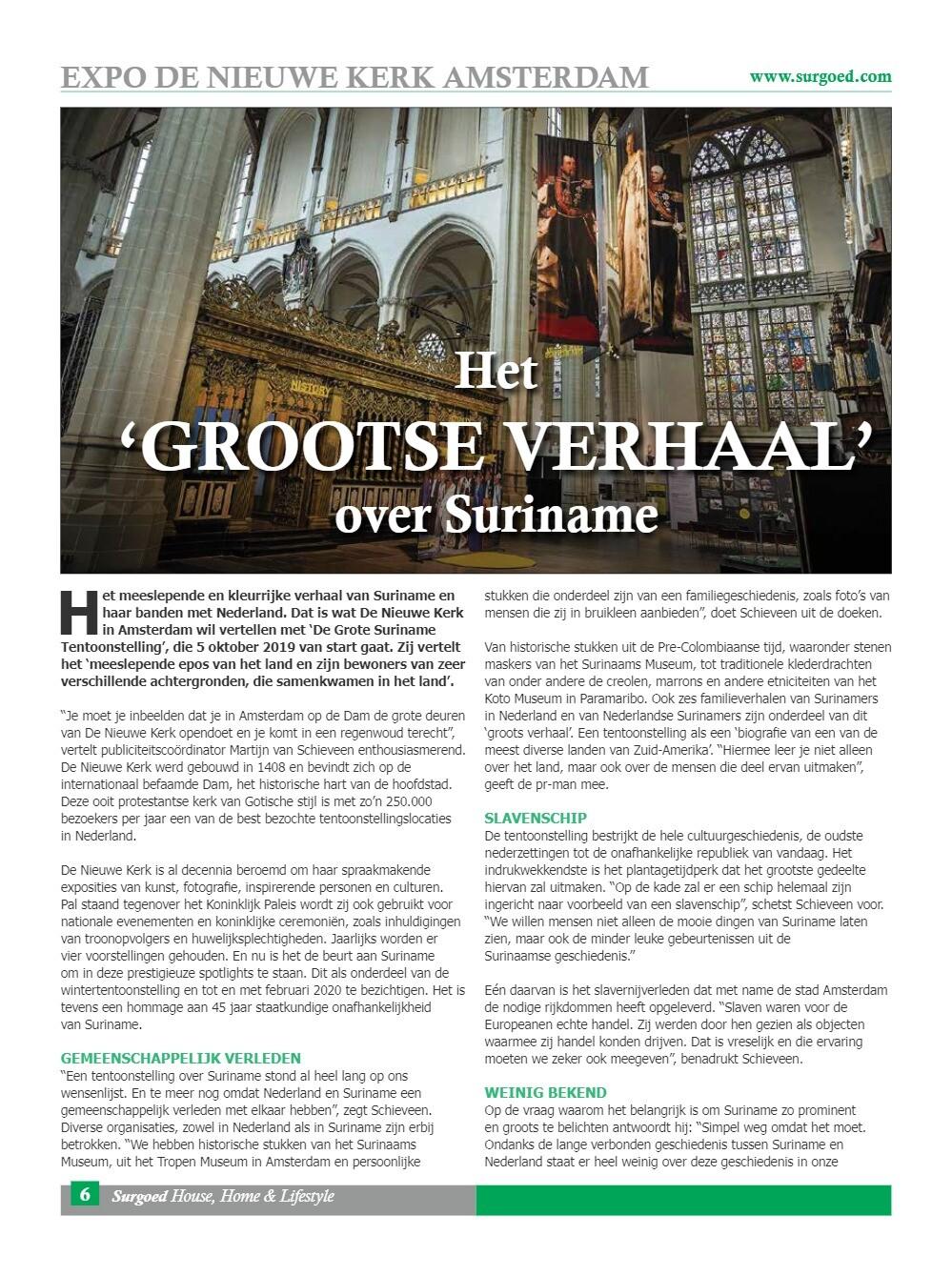 Het 'grootse verhaal' over Suriname
