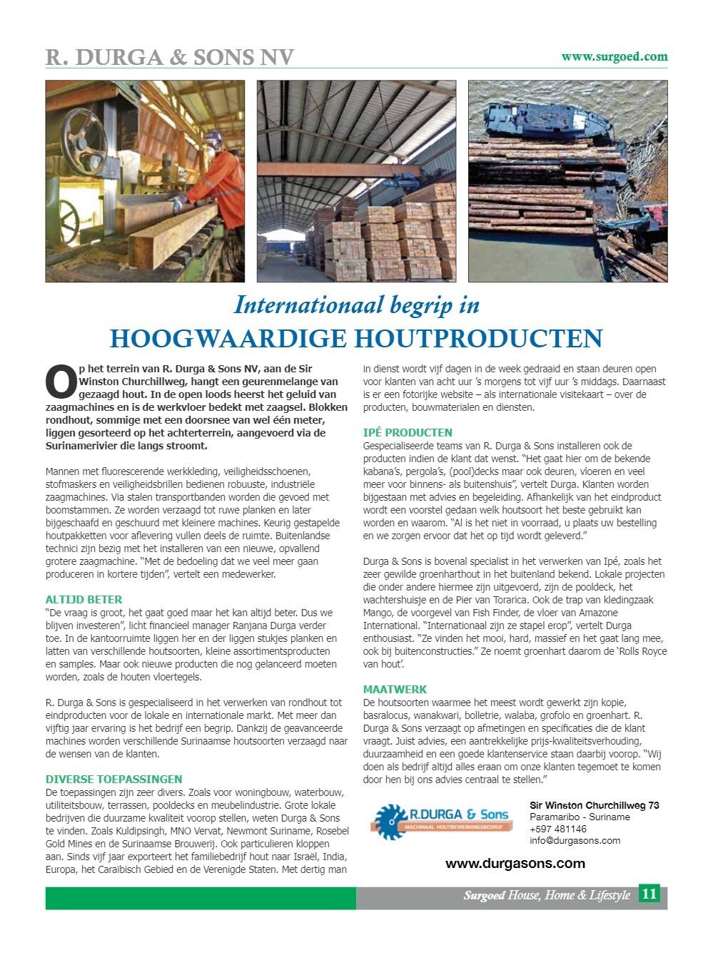 Internationaal begrip in hoogwaardige houtproducten