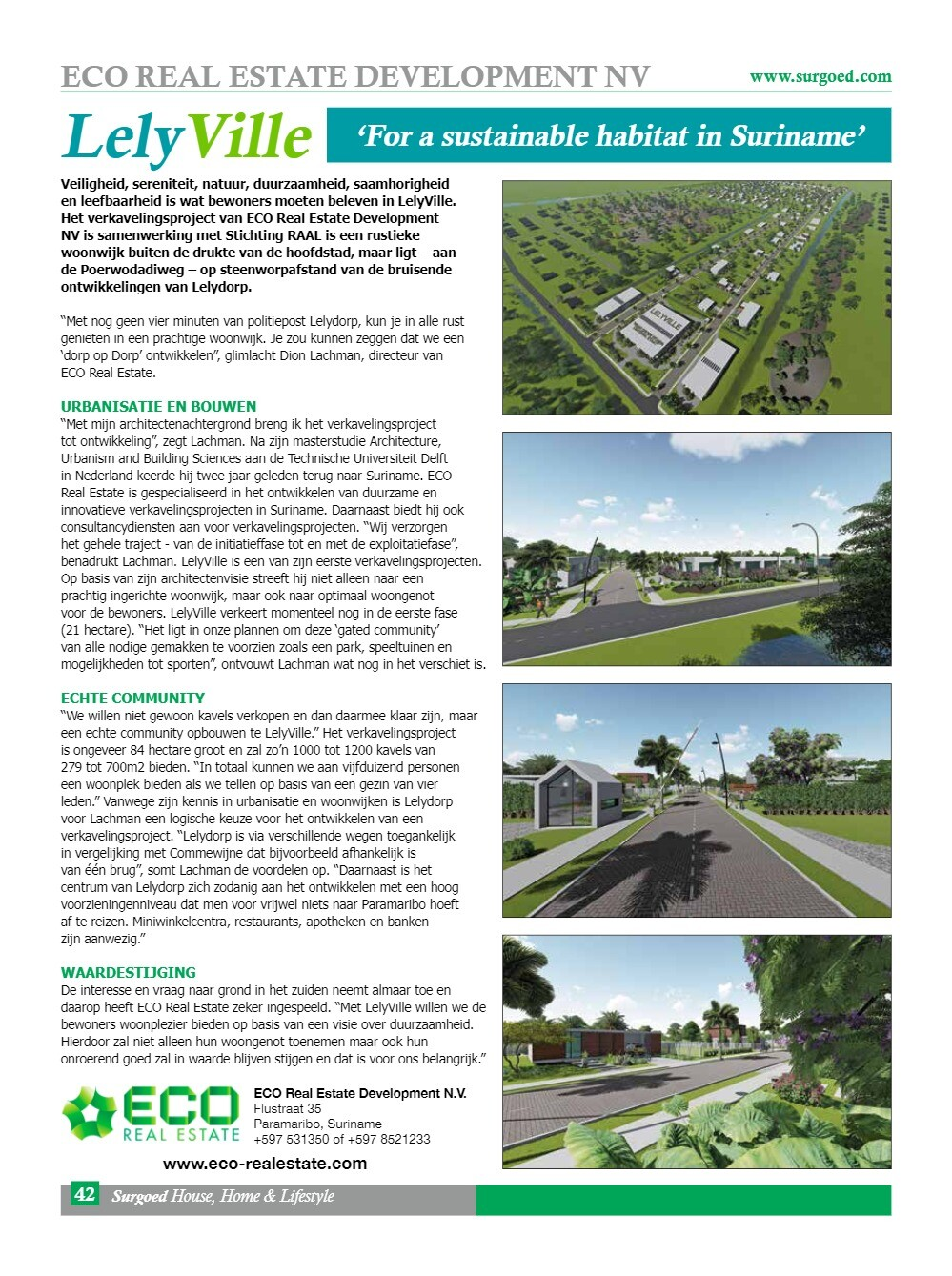 LelyVille 'For a sustainable habitat in Suriname'