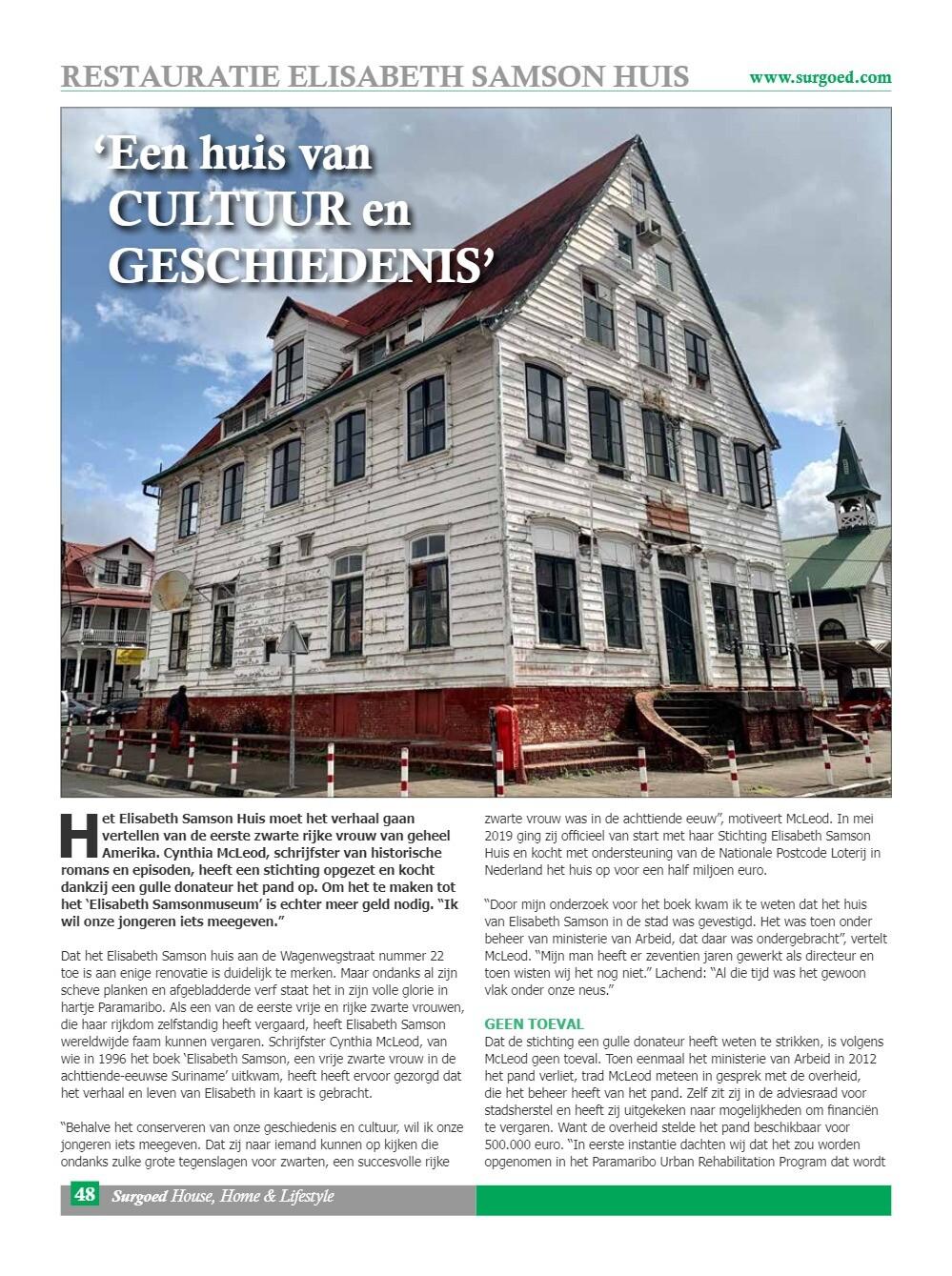 'Een huis van cultuur en geschiedenis'