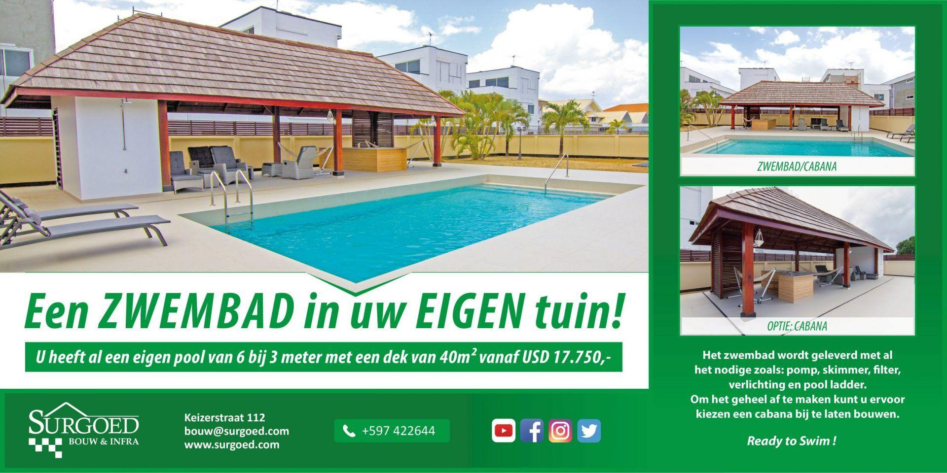 Bouw een zwembad in Suriname