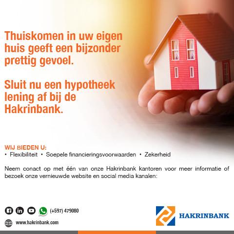Hakrinbank Suriname Advertentie